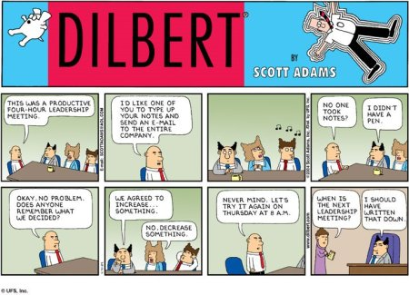 Dilbert Note Taking